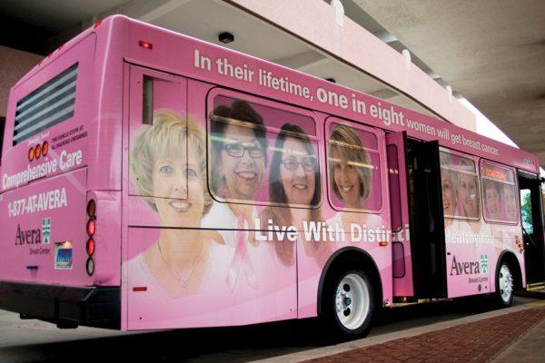 Avera Breast Cancer bus graphic