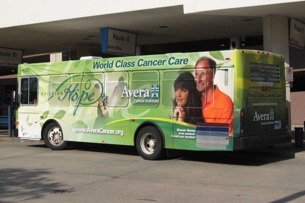 Avera Cancer Institute bus wrap