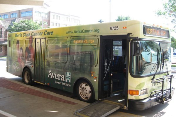 Avera Cancer Institute bus wrap