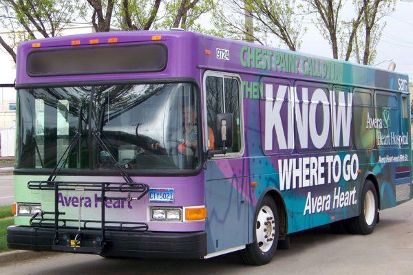 Avera Heart Hospital bus wrap
