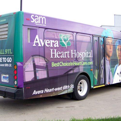 Avera Heart Hospital bus graphics