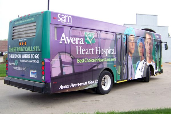 Avera Heart Hospital bus graphics