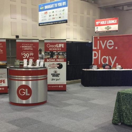 GreatLIFE golf expo booth design
