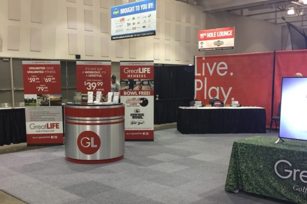 GreatLIFE golf expo booth