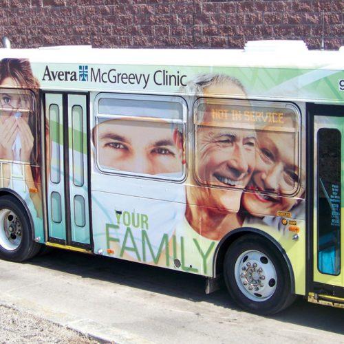 McGreevy Clinic bus wrap