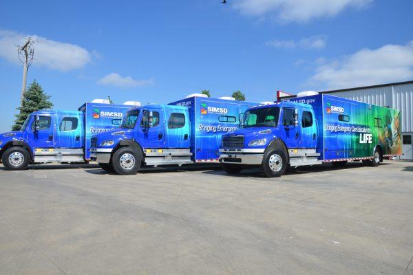 SIM SD truck wrap