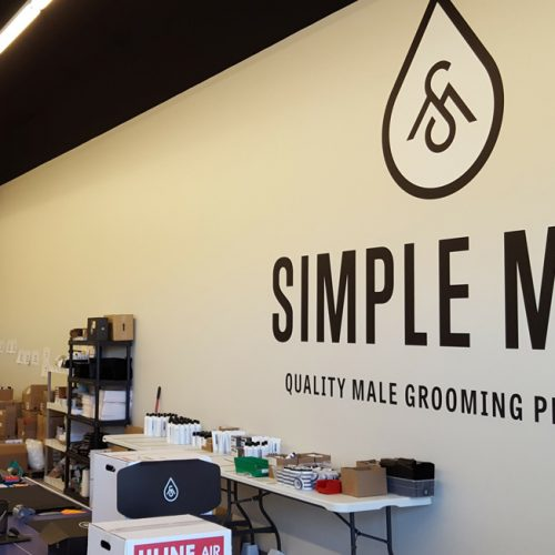Simple Man wall wrap