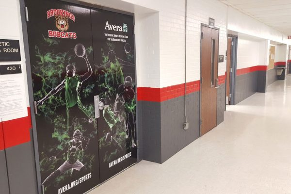 brookings bobcats wallwrap
