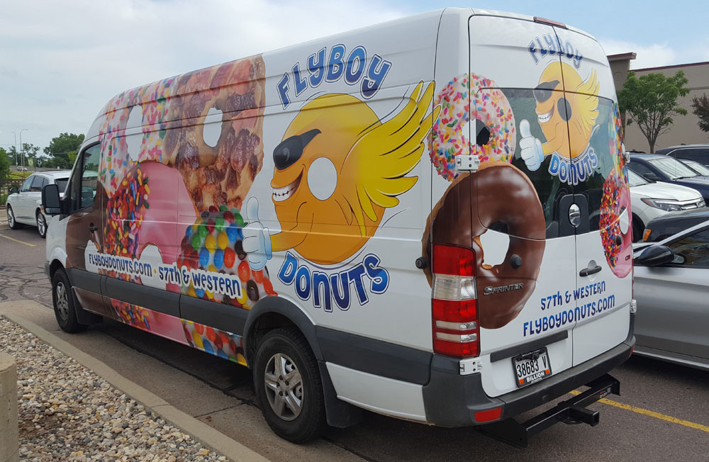 Flyboy Donuts vehicle wrap