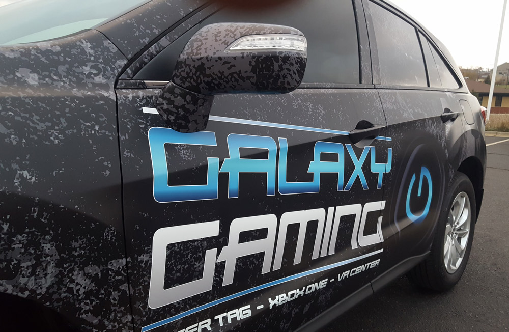 Galaxy Gaming car wrap