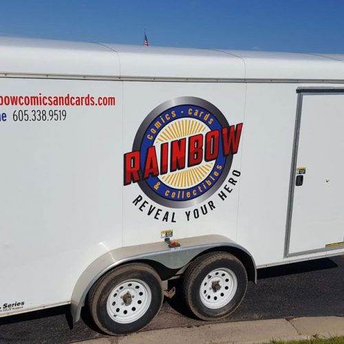 rainbow trailer vehicle wrap