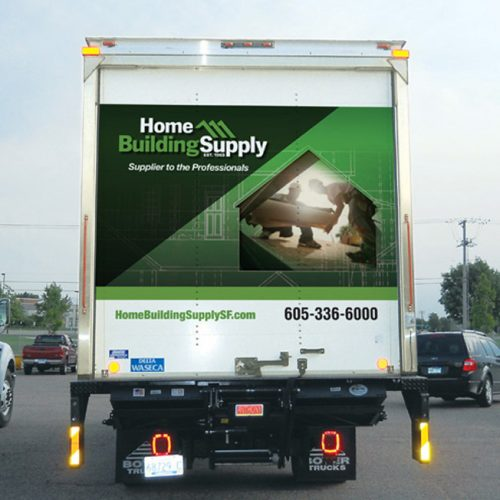 Home Building Supply car wrap