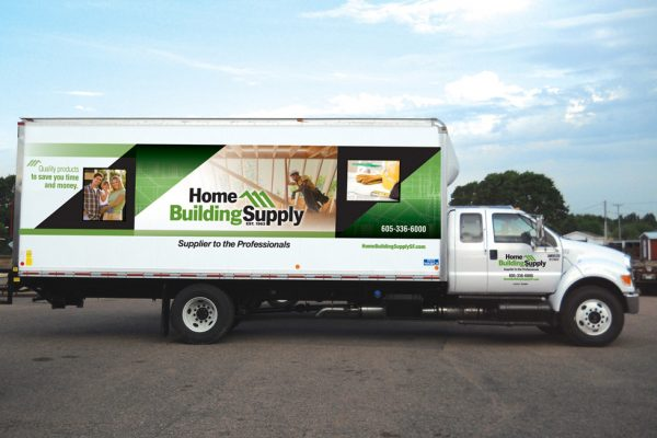 Home Building Supply Vehicle decal
