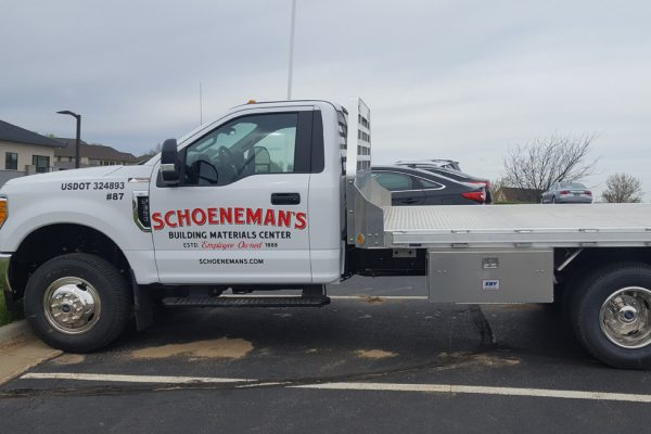 Schoeneman's partial truck wrap