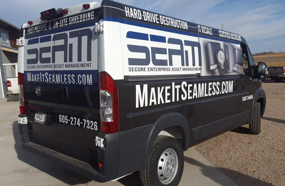 SEAM van wrap in Sioux Falls