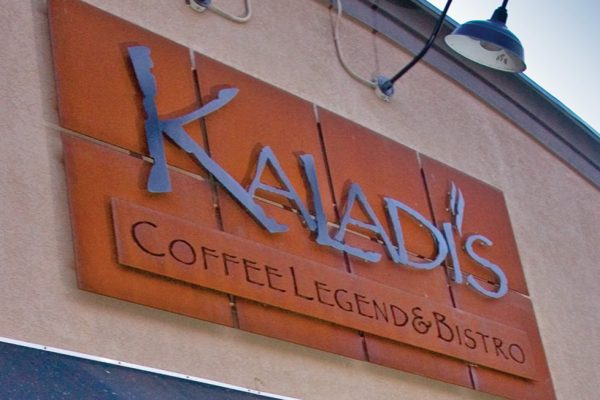 Kaladi's custom sign