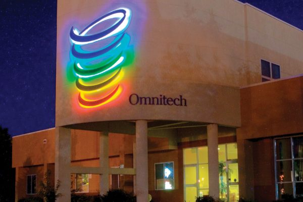 Omnitech custom lighted sign