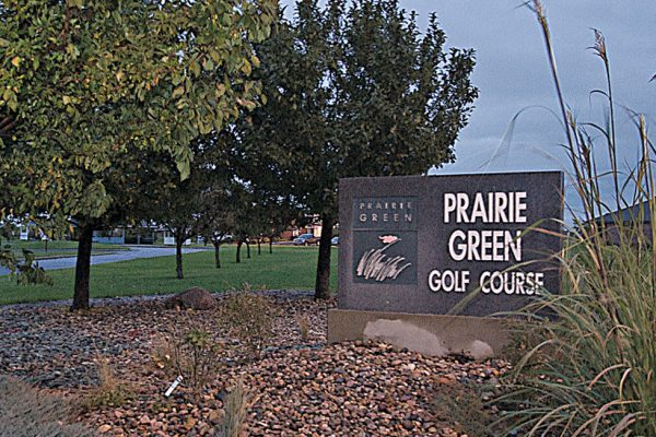 Prairie Green golf course sign