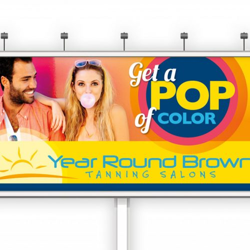 year round brown graphic design billboard