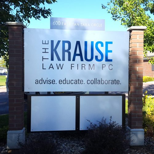 Krause Law Firm sign