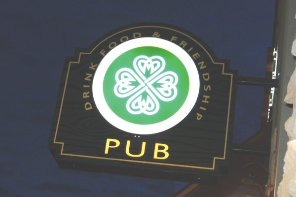 McNally's Irish pub sign