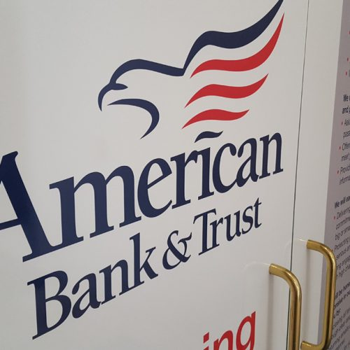 American Bank & Trust wall graphics