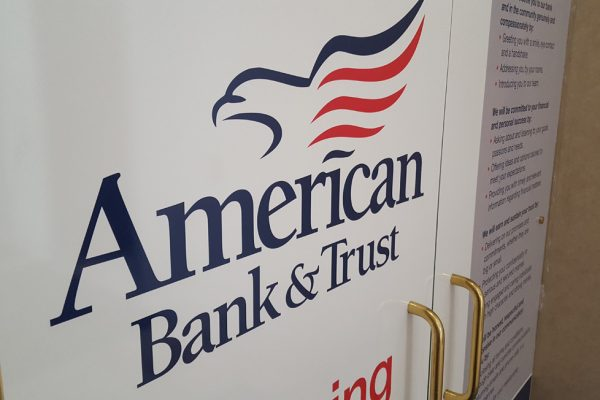 American Bank & Trust window graphics