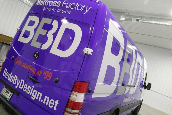 Beds by Design van wrap