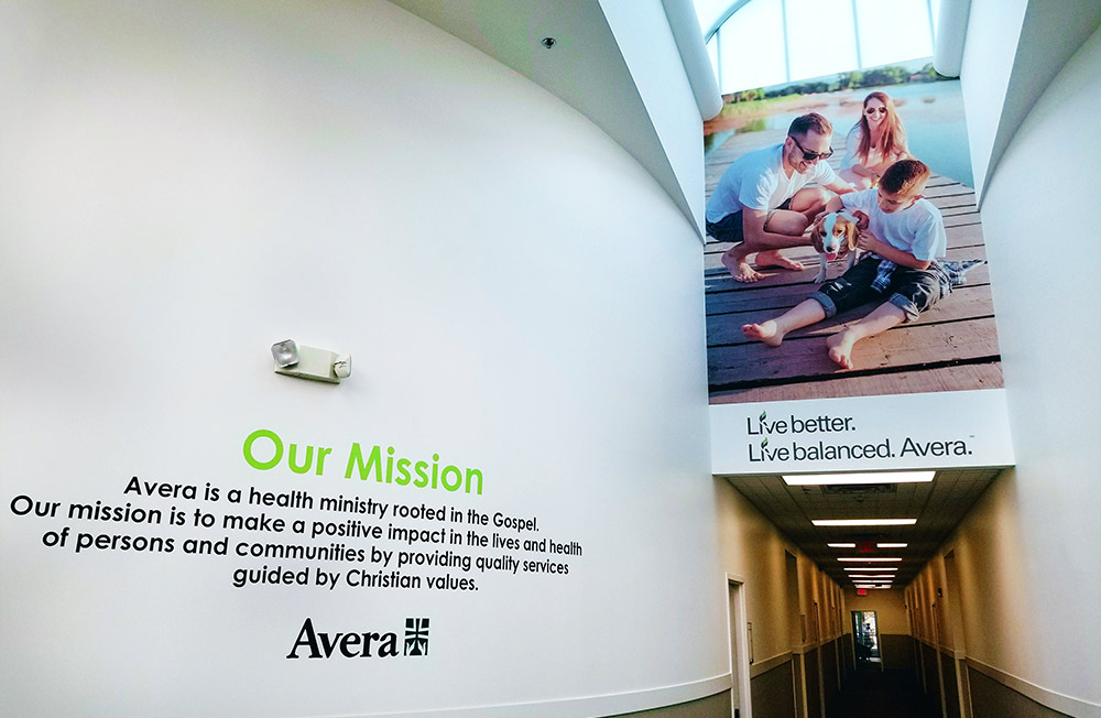 Avera Pasque Display -Custom wall graphics in Sioux Falls, SD