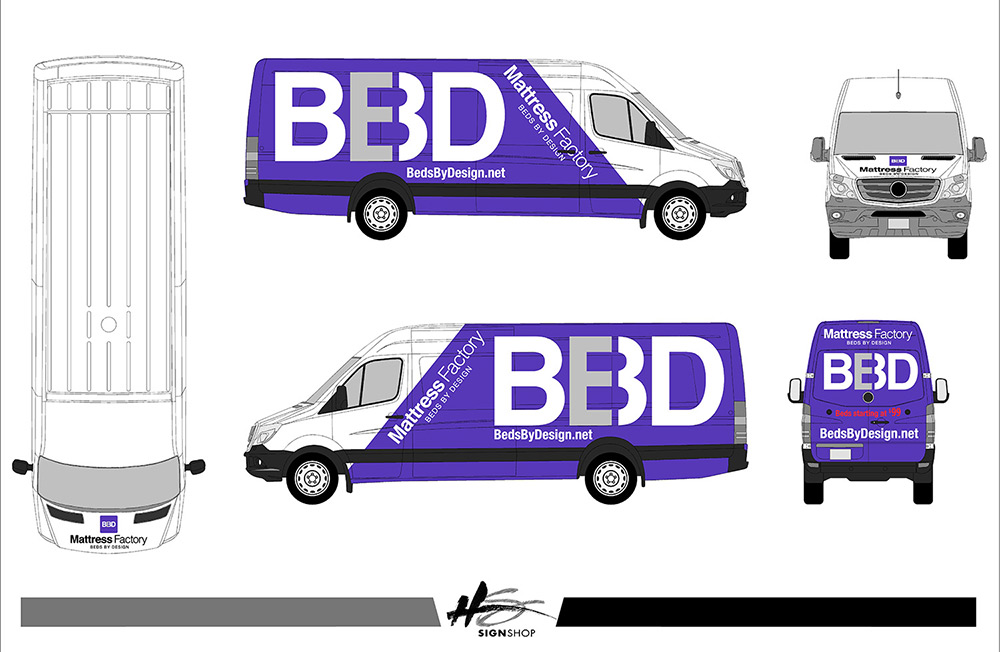 Mercedes Sprinter Vehicle Wrap Mockup
