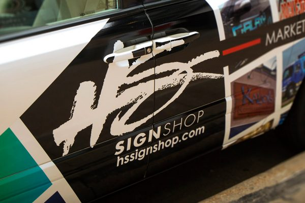 HS Sign Shop Van Wrap - Side View