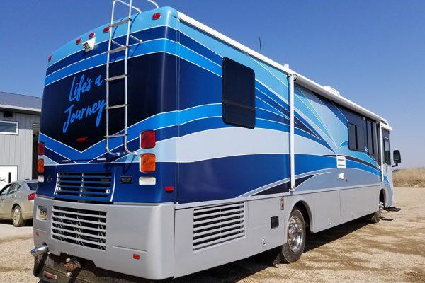 RV wrap - Winnebago make over rear view