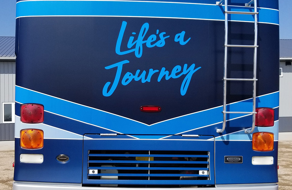 RV Wrap: How to get a New Look on an Old Winnebago | HS Sign Shop