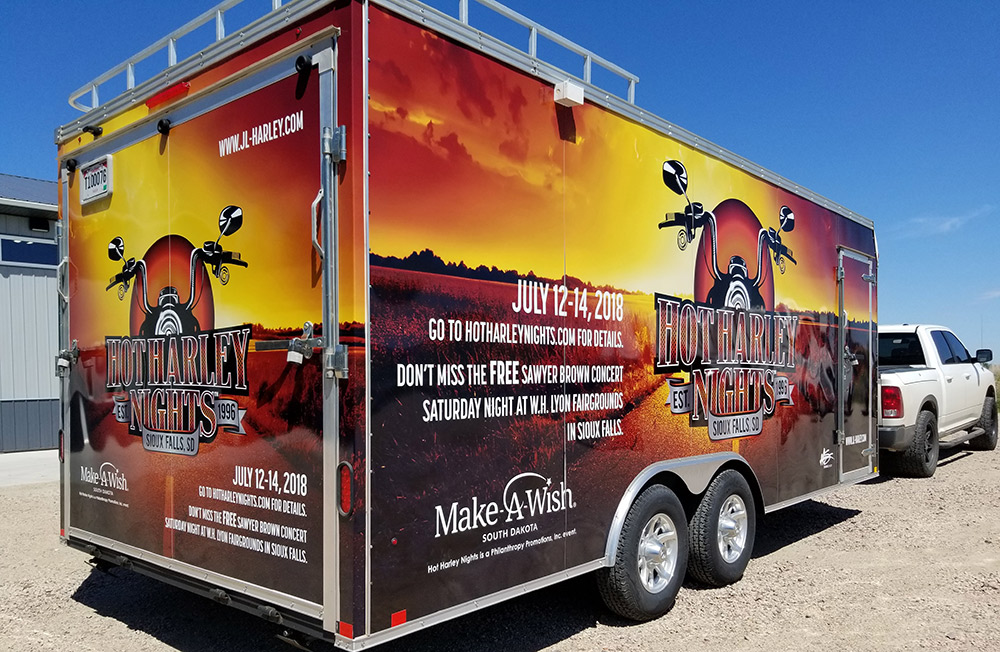 Hot Harley Nights Logo trailer side
