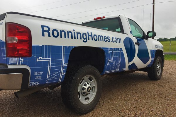 Ronning Homes Truck Wrap