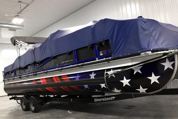 Partial pontoon wrap - American flag