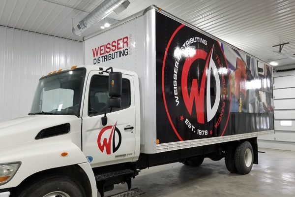 Weisser truck vehicle wrap after