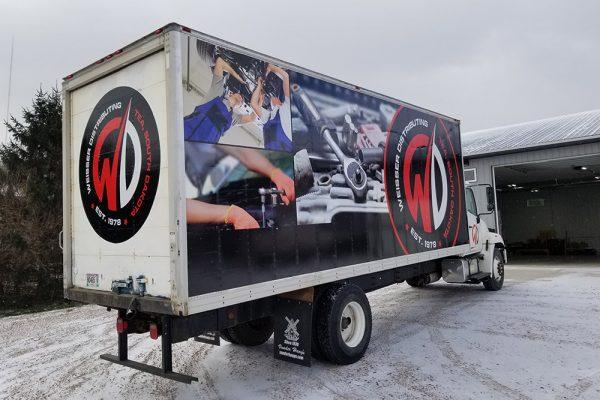 Weisser truck wrap