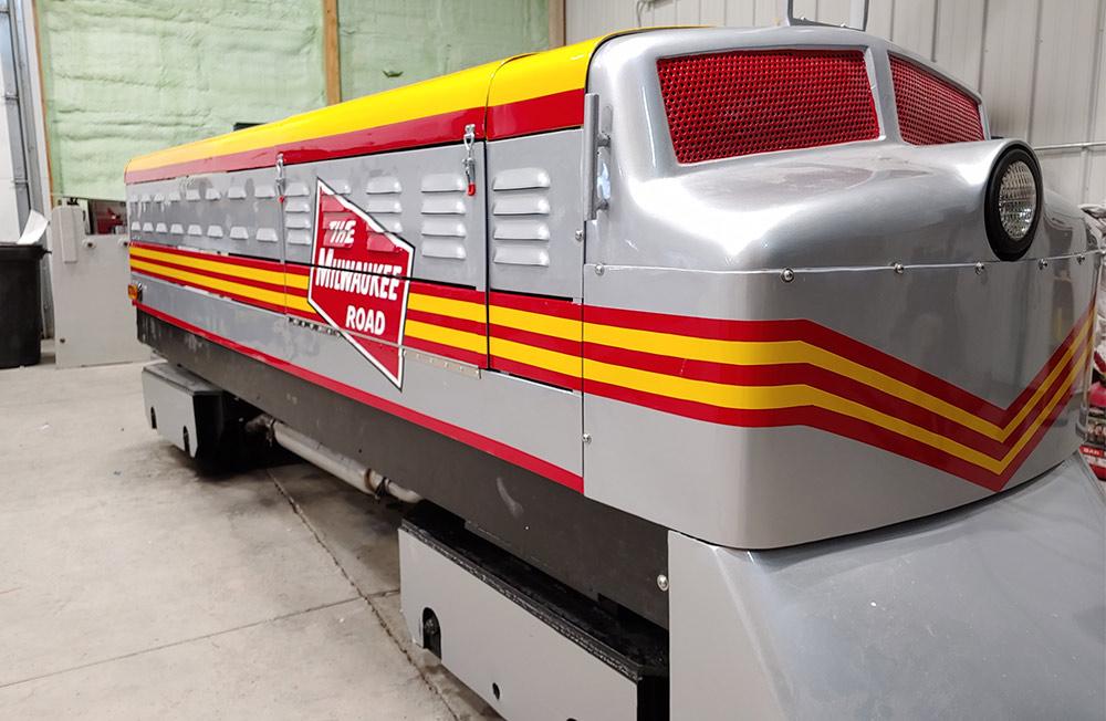 Train at Arnold's Park - Custom Graphics