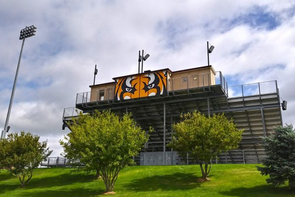 Harrisburg High School Press Box