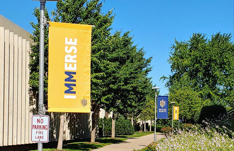 Mount Marty campus signage