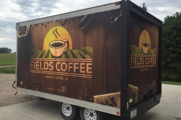 Fields Coffee Trailer Wrap
