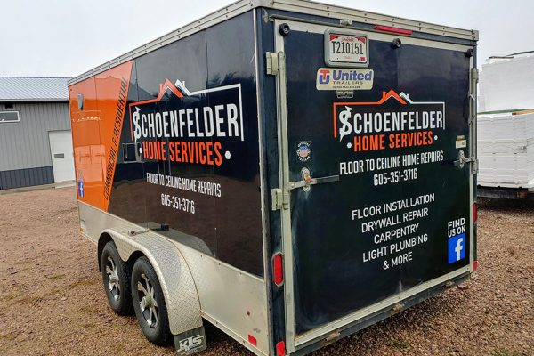 Schoenfelder Home Repairs Trailer Wrap