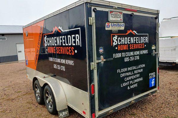Schoenfelder Home Repairs Trailer Wrap