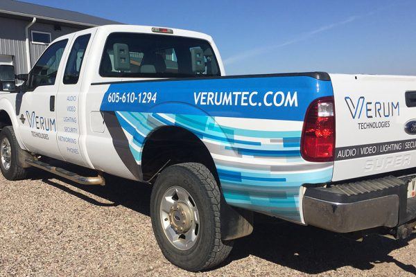 Verum Technologies Truck Wrap