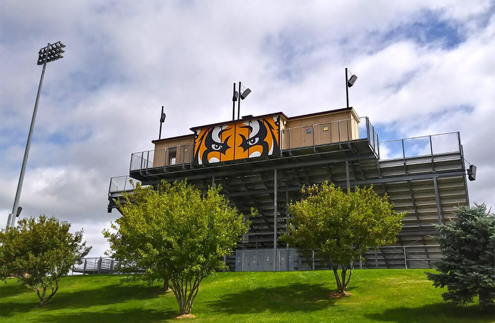 Harrisburg High School Graphics Signage at Stadium