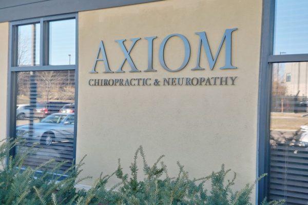 axiom outside signage